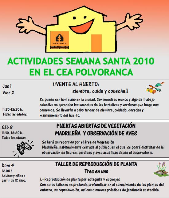 Actividades Semana Santa 2010 en Parque Polvoranca