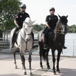 Patrulla a caballo en Parque Polvoranca 1