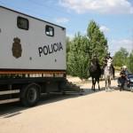 Patrulla a caballo en Parque Polvoranca 2